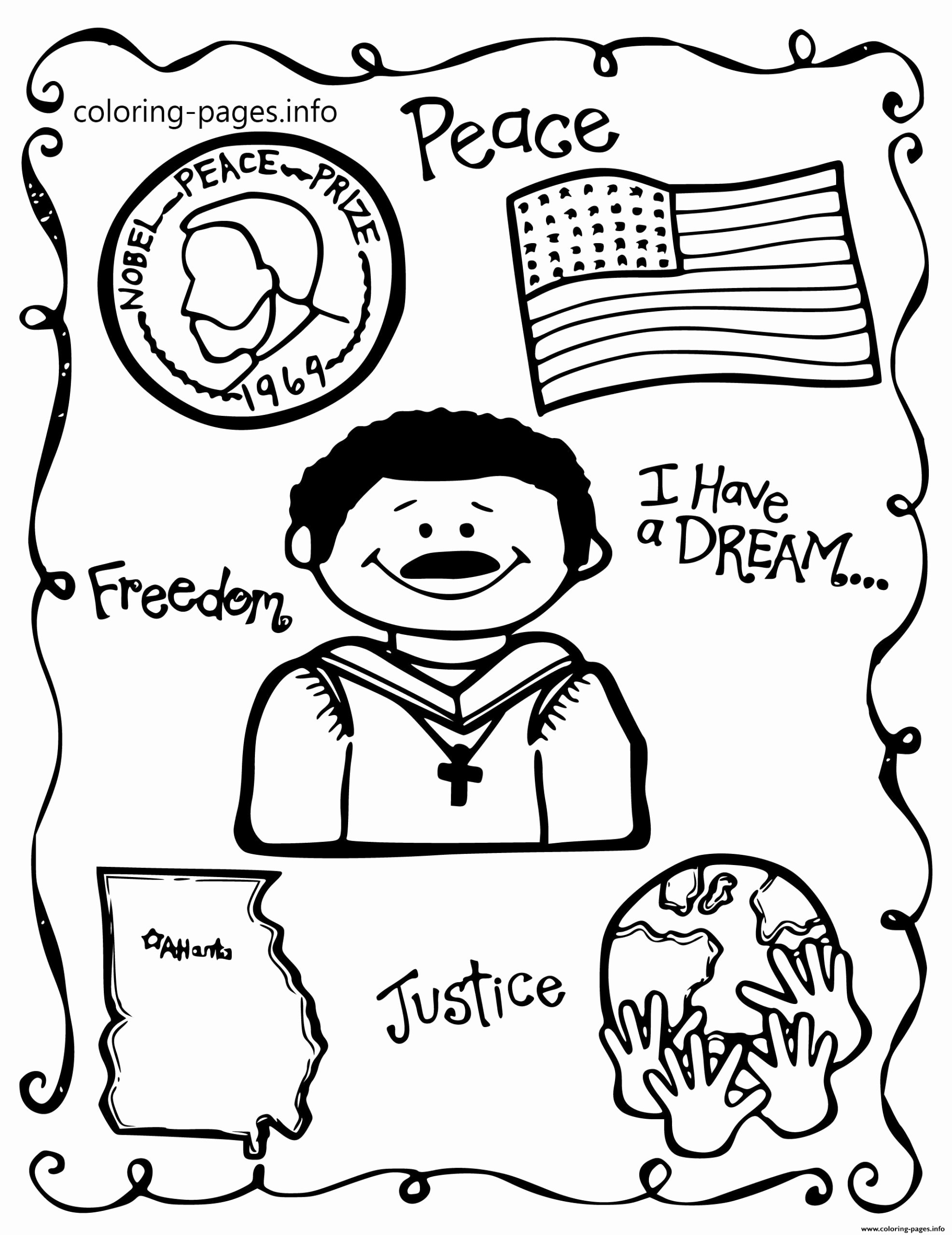 Martin Luther King Worksheets for Preschoolers Inspirational Marvelous Printable Martin Luther King Coloring Pages