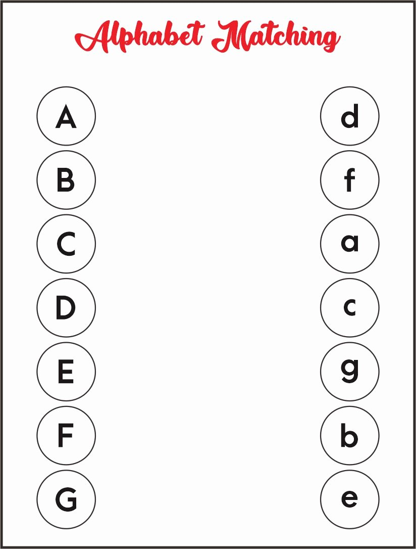 Matching Activity Worksheets for Preschoolers Free 7 Best Alphabet Matching Printable Worksheets Printablee