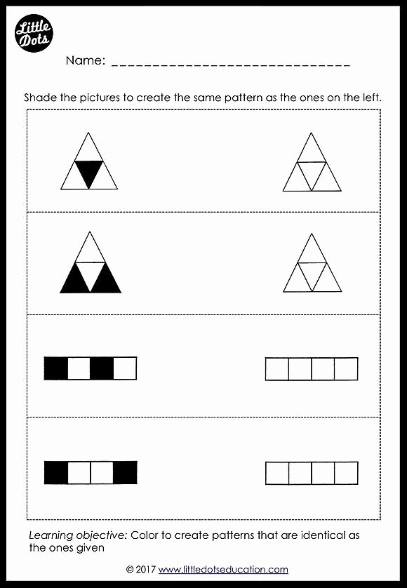 Matching Game Worksheets for Preschoolers Inspirational Preschool Patterns Matching Worksheets and Activities