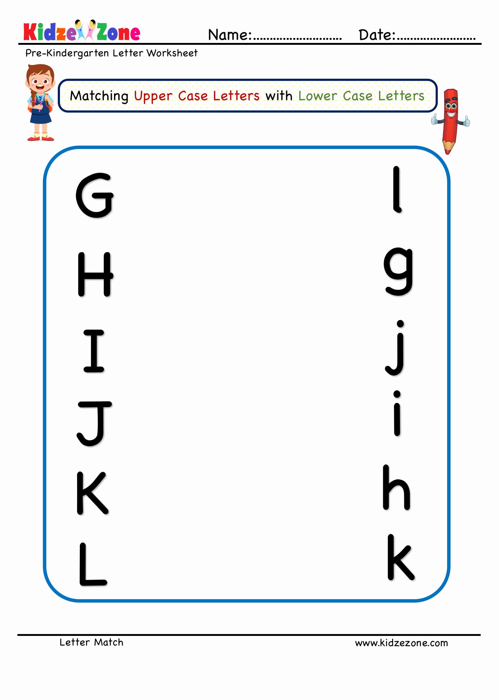 Matching Letters Worksheets for Preschoolers Lovely Preschoolh Upper Case to Lower Letter Worksheet G L Coloring