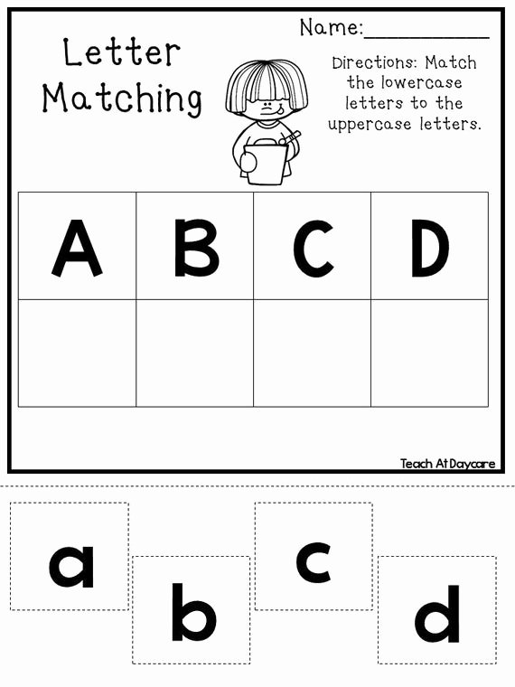 Matching Letters Worksheets for Preschoolers New 21 Printable Alphabet Matching Worksheets Preschool Kdg Phonics
