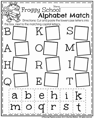 Matching Letters Worksheets for Preschoolers top Back to School Kindergarten Worksheets Planning Playtime