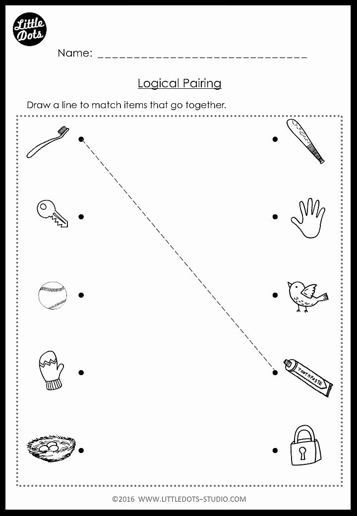 Matching Pictures Worksheets for Preschoolers Kids Kindergarten Same and Different Worksheets and Activities