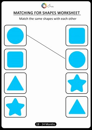 Matching Shapes Worksheets for Preschoolers Kids Download Free Matching Shapes Worksheets for 18 24 Months