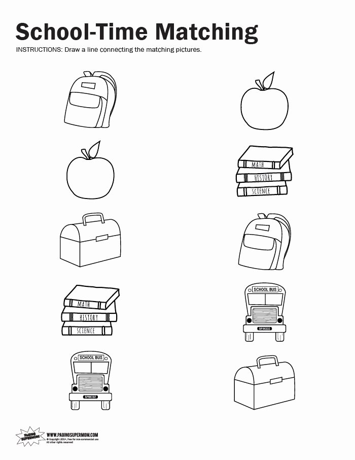 Matching Worksheets for Preschoolers Ideas Coloring Pages Remarkable Printable Materials for