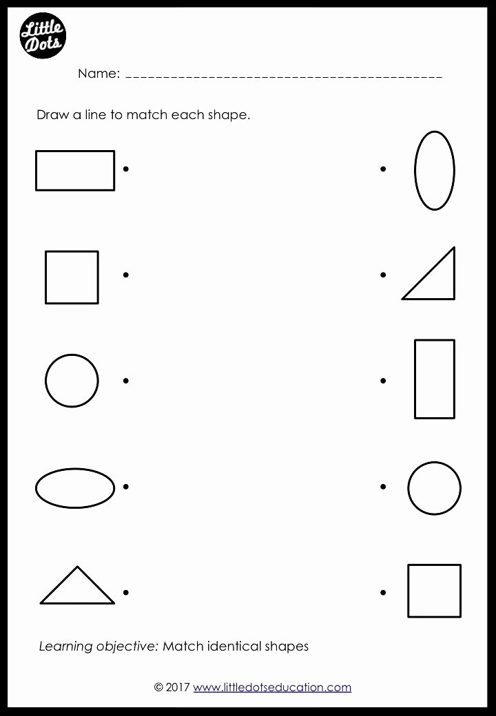 Matching Worksheets for Preschoolers Lovely Preschool Shapes Matching Worksheets and Activities