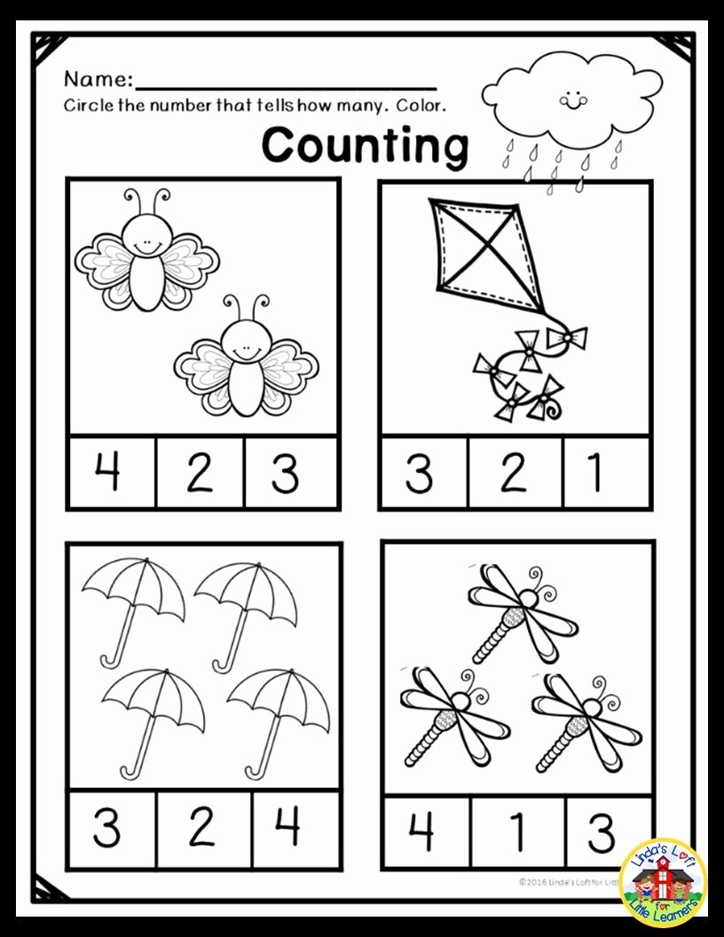 Math Concept Worksheets for Preschoolers New Spring Math Preschool Printables