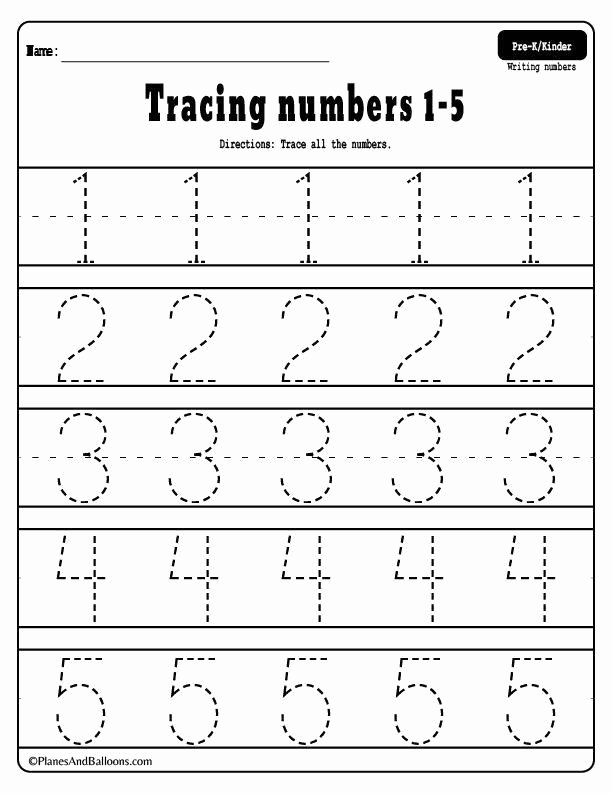Math Tracing Worksheets for Preschoolers Best Of Kindergarten Preschool Numbers Number Tracing Worksheets 1
