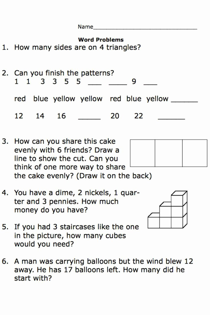 Math Word Problems Worksheets for Preschoolers Best Of Free Printable Worksheets for Second Grade Math Word