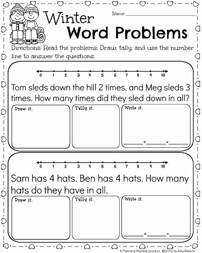 Math Word Problems Worksheets for Preschoolers Best Of Kindergarten Math and Literacy Worksheets for February