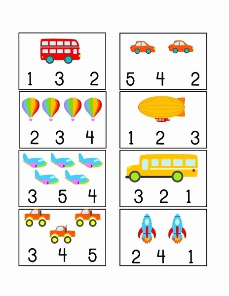 Math Worksheets for Preschoolers Printables Best Of Printables Transportation Worksheets Funny Preschool