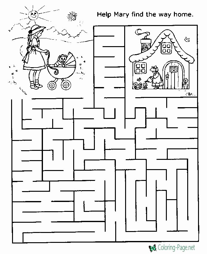 Maze Worksheets for Preschoolers Ideas Printable Mazes
