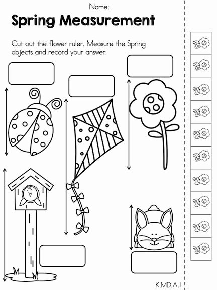 Measuring Worksheets for Preschoolers New Spring Math Activities Kindergarten