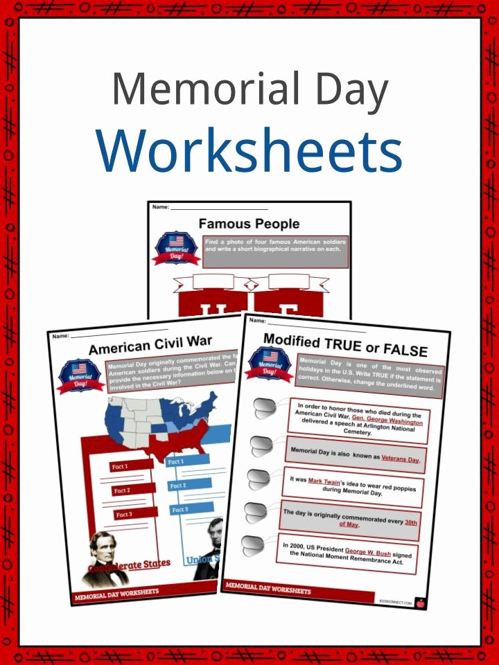 Memorial Day Worksheets for Preschoolers top Memorial Day Facts Worksheets & Historical Information for Kids