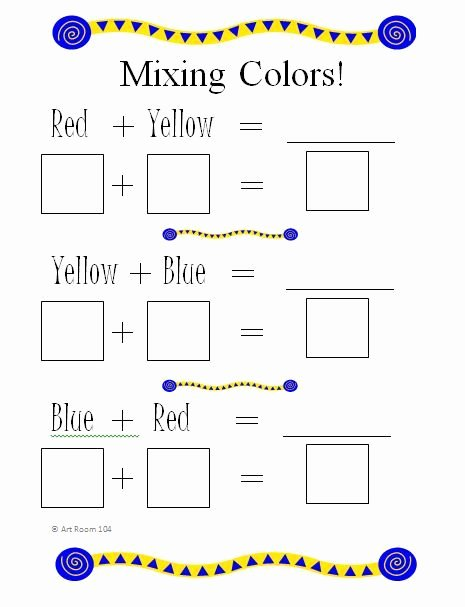 Mixing Colors Worksheets for Preschoolers Ideas Art Room 104 Primary Colors and Rainbows