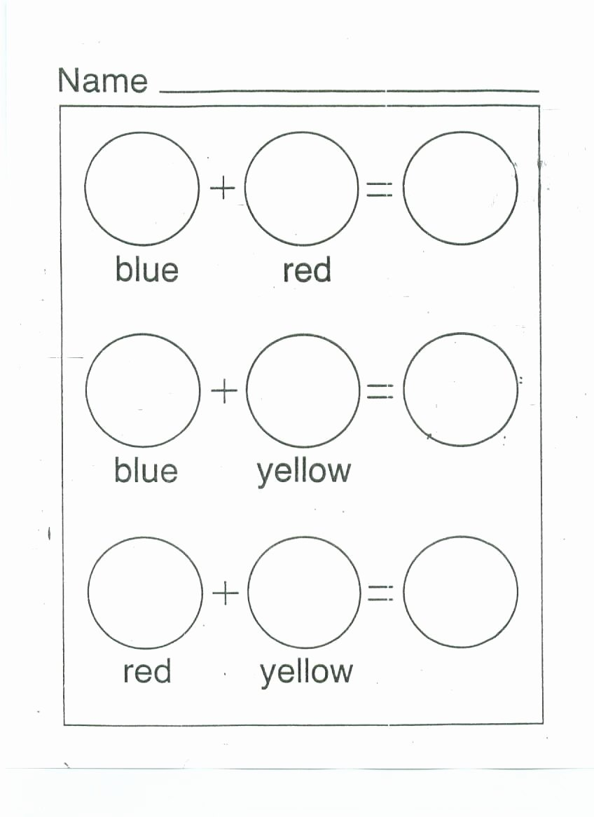 Mixing Colors Worksheets for Preschoolers Ideas Color Mixing Printable Worksheet Google Search