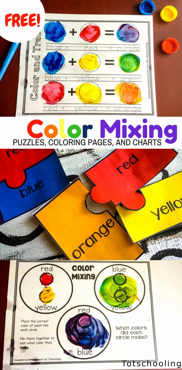 Mixing Colors Worksheets for Preschoolers Printable Color Mixing Activity Pack