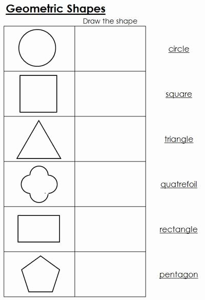 Montessori Worksheets for Preschoolers Inspirational Geometric Shapes Worksheets