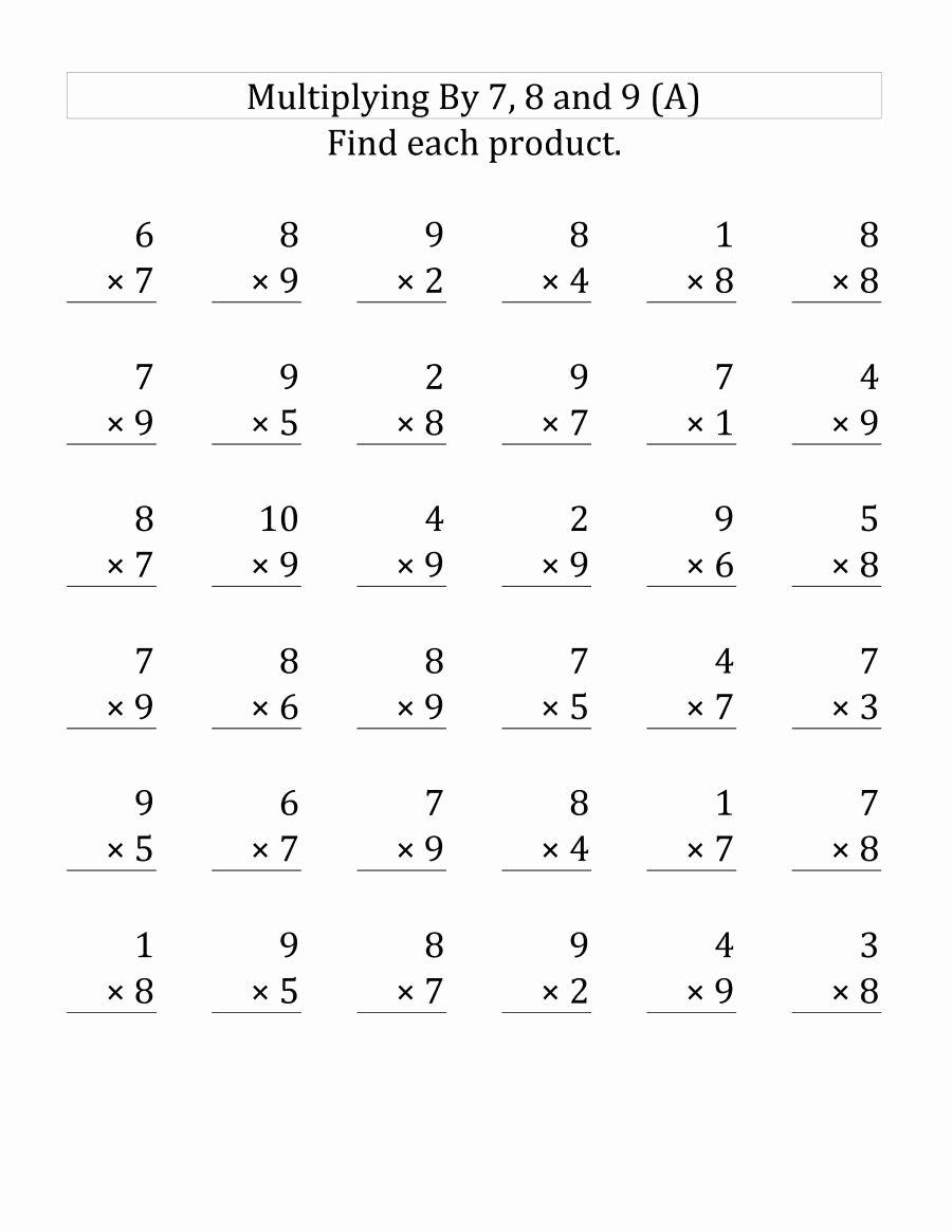 Multiplication Worksheets for Preschoolers Fresh 3rd Grade Multiplication Worksheets Best Coloring Pages