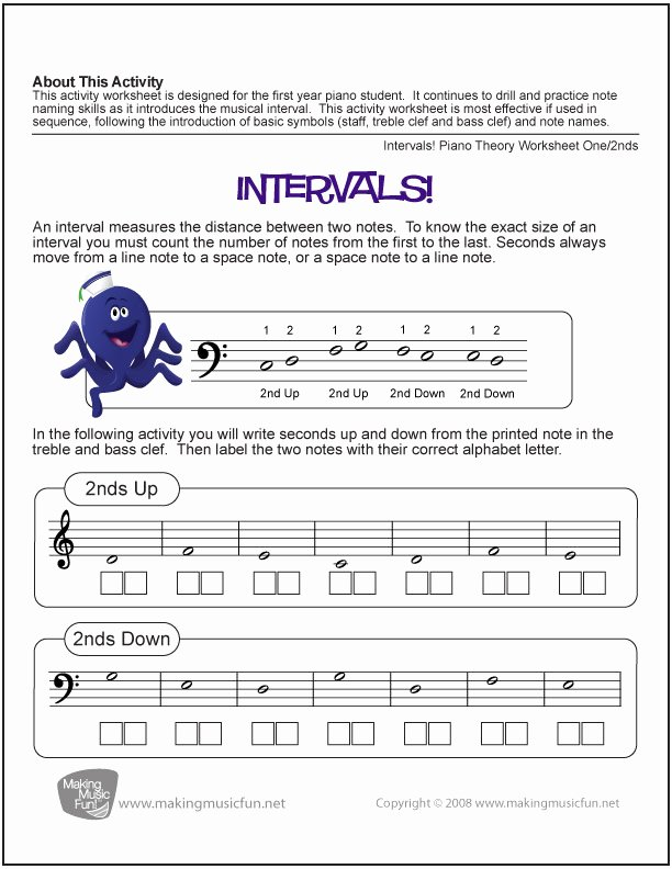 Music theory Worksheets for Preschoolers Free 10 Music theory Worksheets and Games for Kids – Bluebird