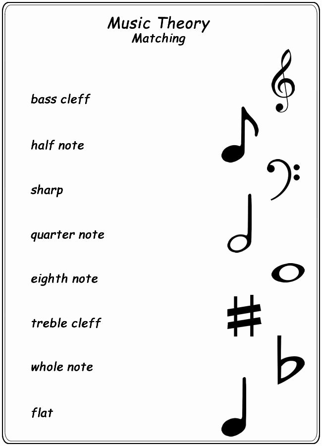 Music theory Worksheets for Preschoolers Lovely Worksheets Homeschool Helper Line