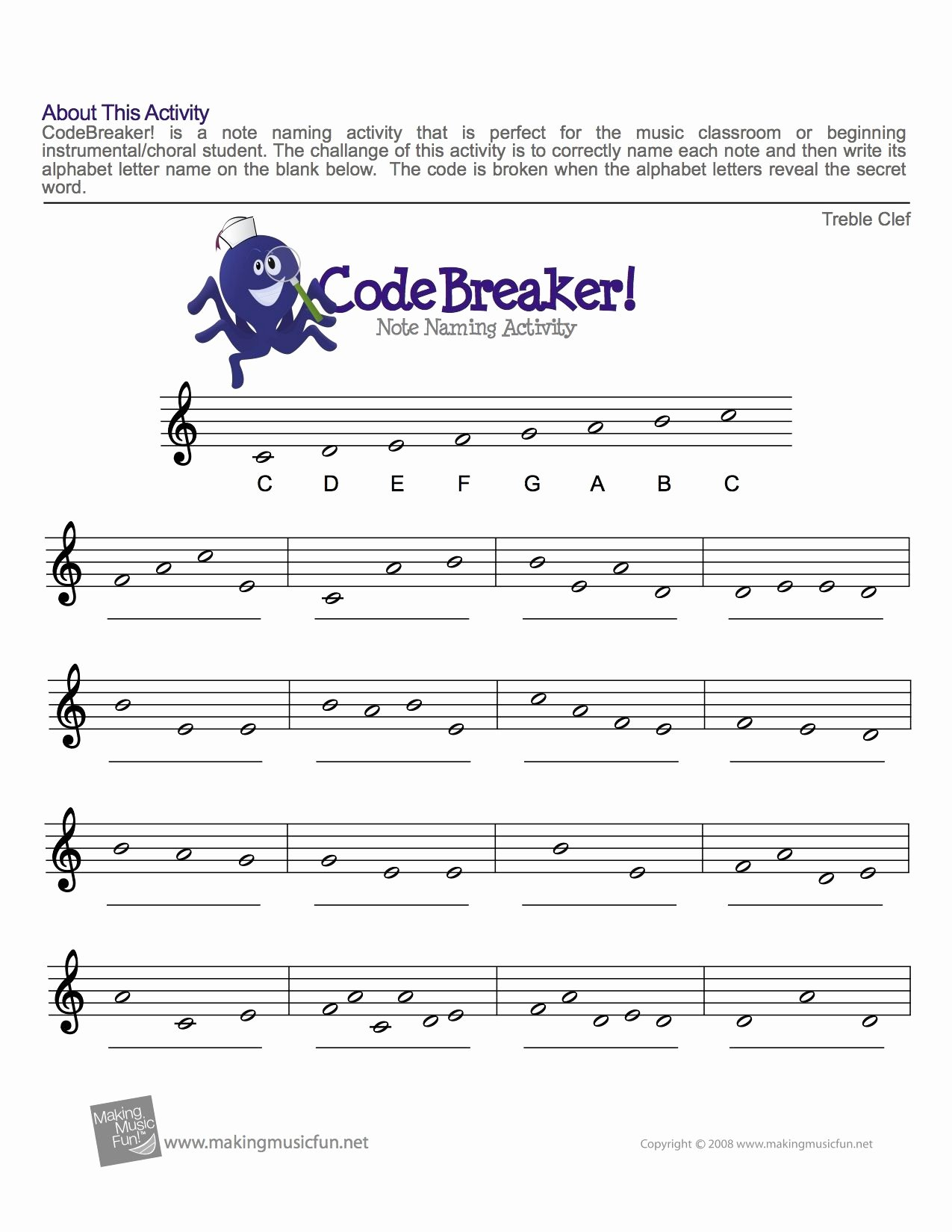 Music theory Worksheets for Preschoolers New Treble Clef Fun Note Reading with Music theory Piano