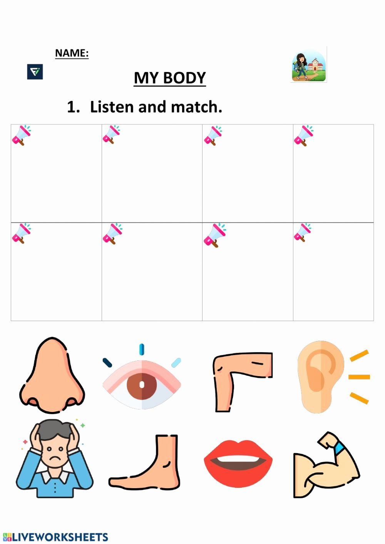 My Body Worksheets for Preschoolers Ideas My Body 2 Preschool Interactive Worksheet