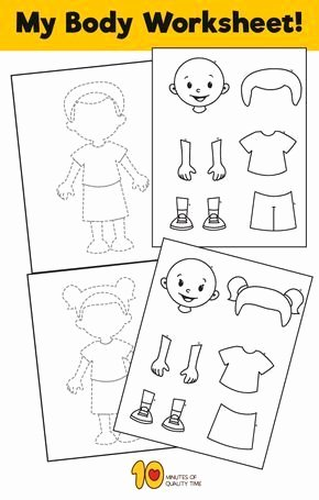 My Body Worksheets for Preschoolers Printable My Body Worksheet for Kids