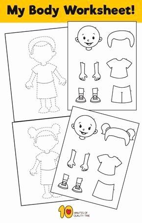 My Body Worksheets for Preschoolers Printable My Body Worksheet for Kids