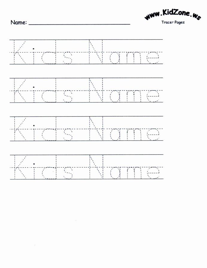 Name Worksheets for Preschoolers Fresh Name Tracing Worksheets for Printable Activities Free