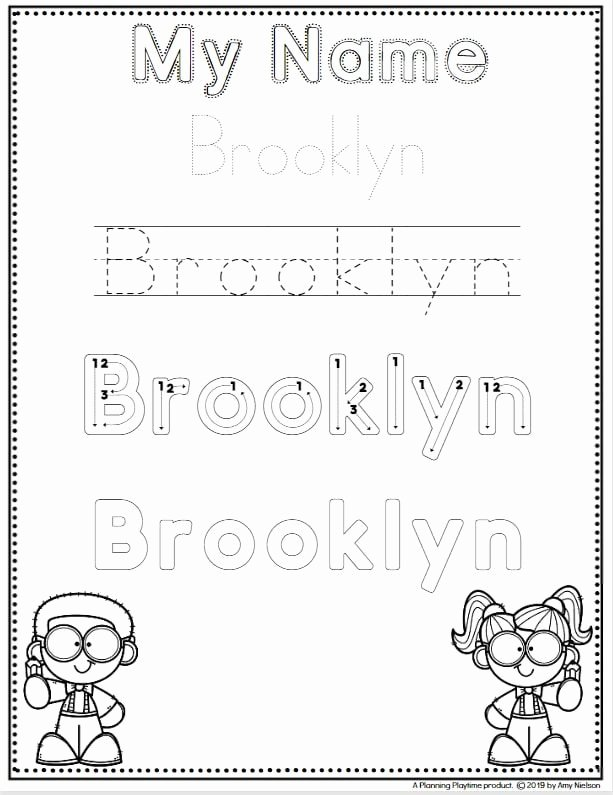 Name Worksheets for Preschoolers New Name Tracing Worksheets Planning Playtime