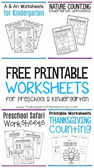 Nature Worksheets for Preschoolers Kids Free Printable Worksheets for Preschool & Kindergarten the