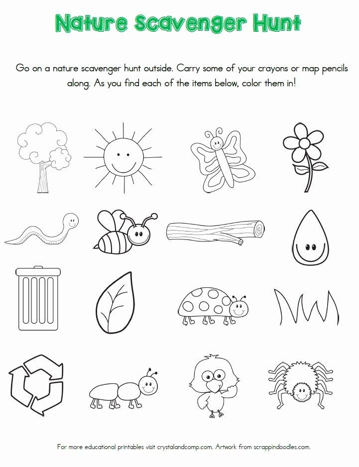 Nature Worksheets for Preschoolers Lovely Nature Scavenger Hunt Printables for Kids