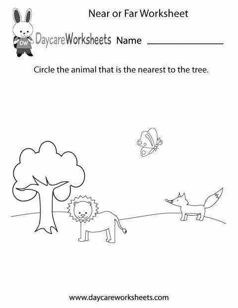Near and Far Worksheets for Preschoolers Kids 11 Preschool Positions Worksheet