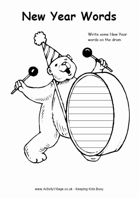 New Year Worksheets for Preschoolers Kids New Year Worksheets