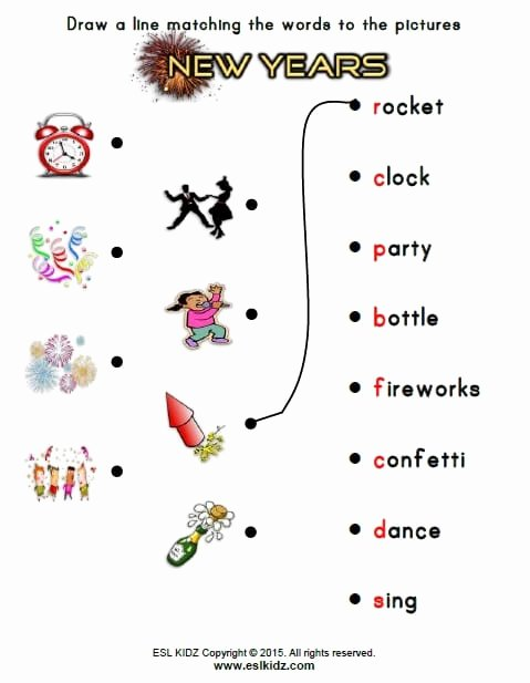 New Year Worksheets for Preschoolers top New Years Activities Games and Worksheets for Kids