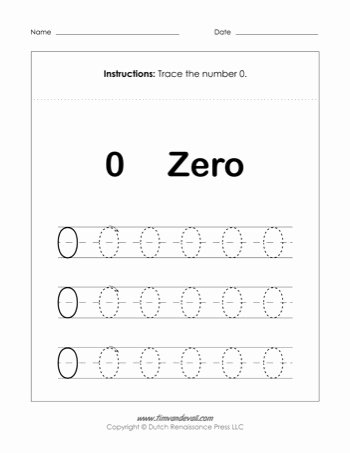 Number 0 Worksheets for Preschoolers Lovely Number 0 Worksheet Tim S Printables