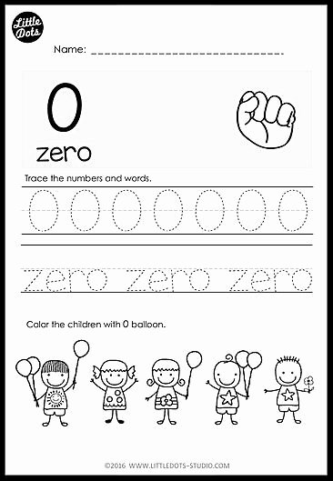 Number 0 Worksheets for Preschoolers Printable Kindergarten Numbers 0 to 20 Worksheets and Activities