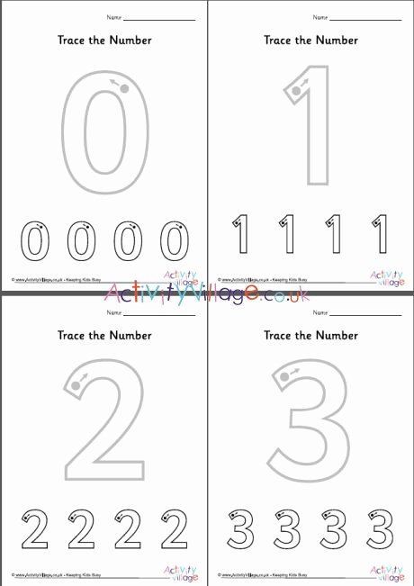 Number 0 Worksheets for Preschoolers top Coloring Pages Trace the Number Worksheets 0 10 460 2