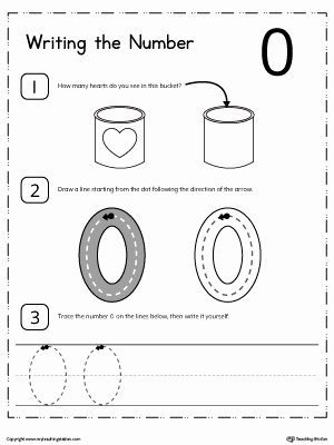 Number 0 Worksheets for Preschoolers top Learn to Count and Write Number 0