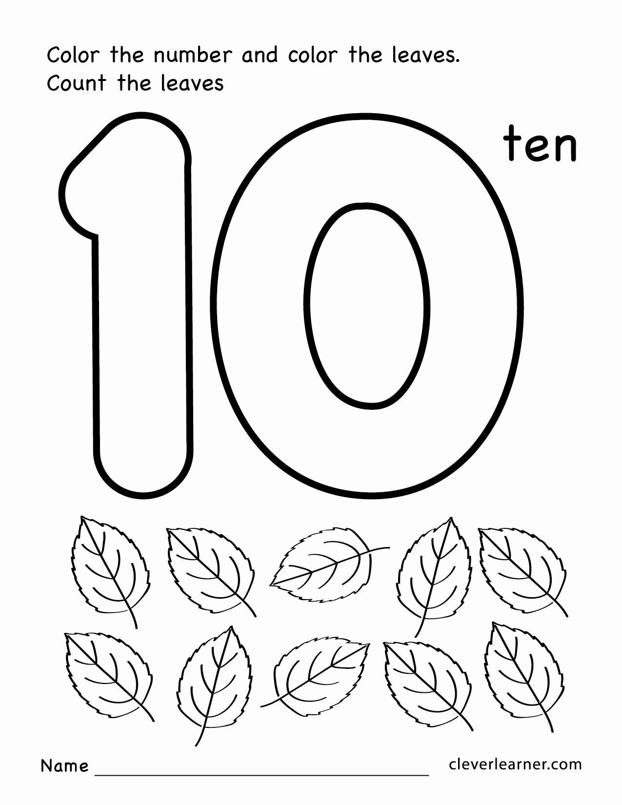 Number 10 Worksheets for Preschoolers Best Of Worksheets Number Ten Writing Counting and Identification