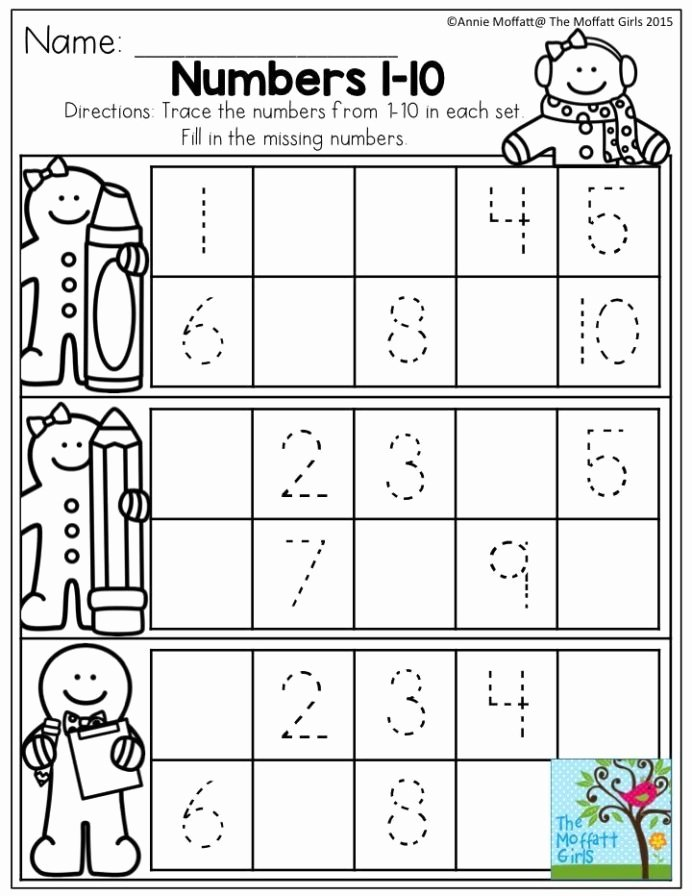 Number 10 Worksheets for Preschoolers Lovely December Fun Filled Learning with No Prep Numbers Preschool