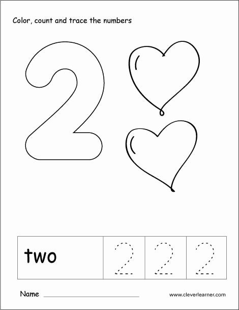 Number 2 Worksheets for Preschoolers Free Number Two Writing Counting and Recognition Activities for