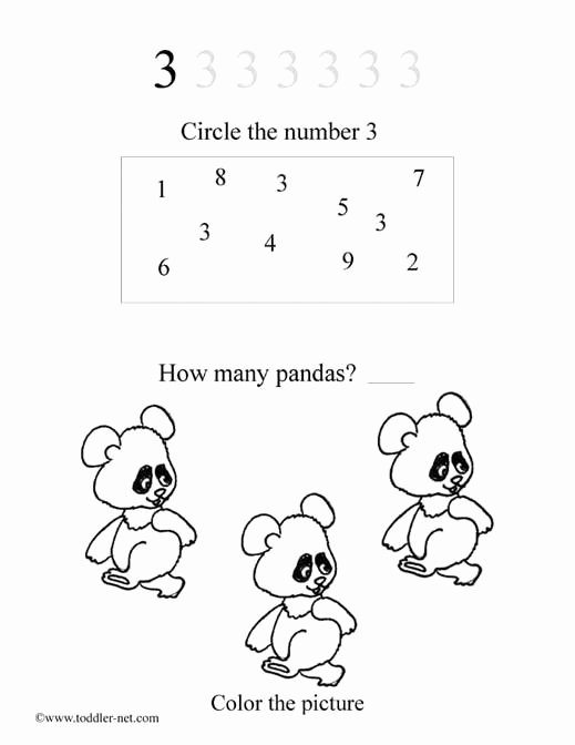 Number 3 Worksheets for Preschoolers Fresh Free Number 3 Worksheet