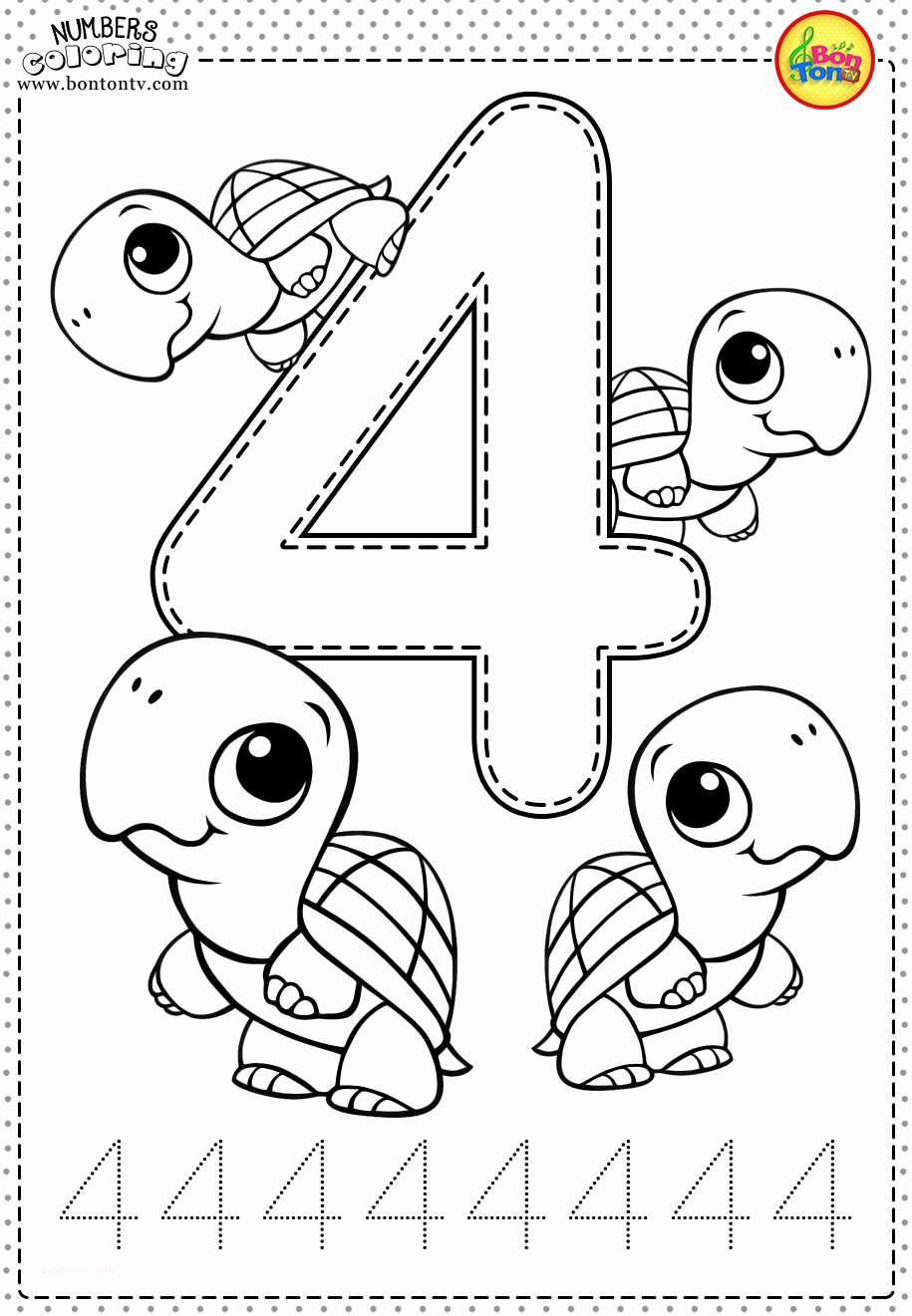 Number 4 Worksheets for Preschoolers New Coloring Pages Printable Coloring Book for toddlers New