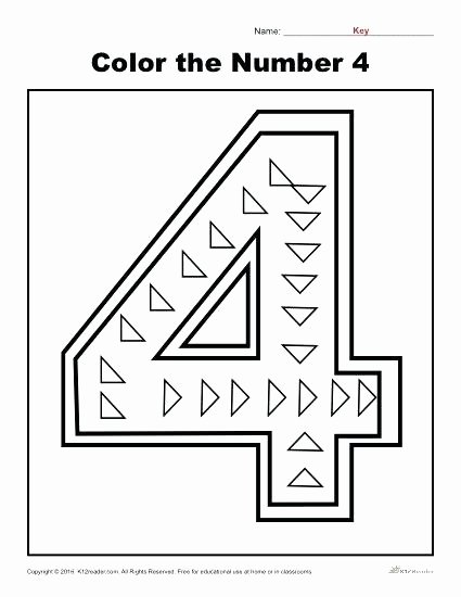Number 4 Worksheets for Preschoolers Printable Number 4 Worksheets – Dailycrazynews