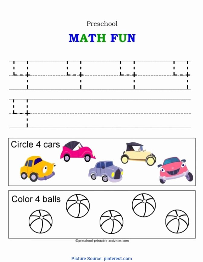 Number 4 Worksheets for Preschoolers Printable Roleplayersensemble Fantastic Number 4 Preschool Worksheet