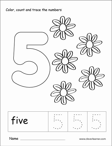 Number 5 Worksheets for Preschoolers Lovely Number 5 Worksheets for Preschool Worksheets Fraction Puzzle