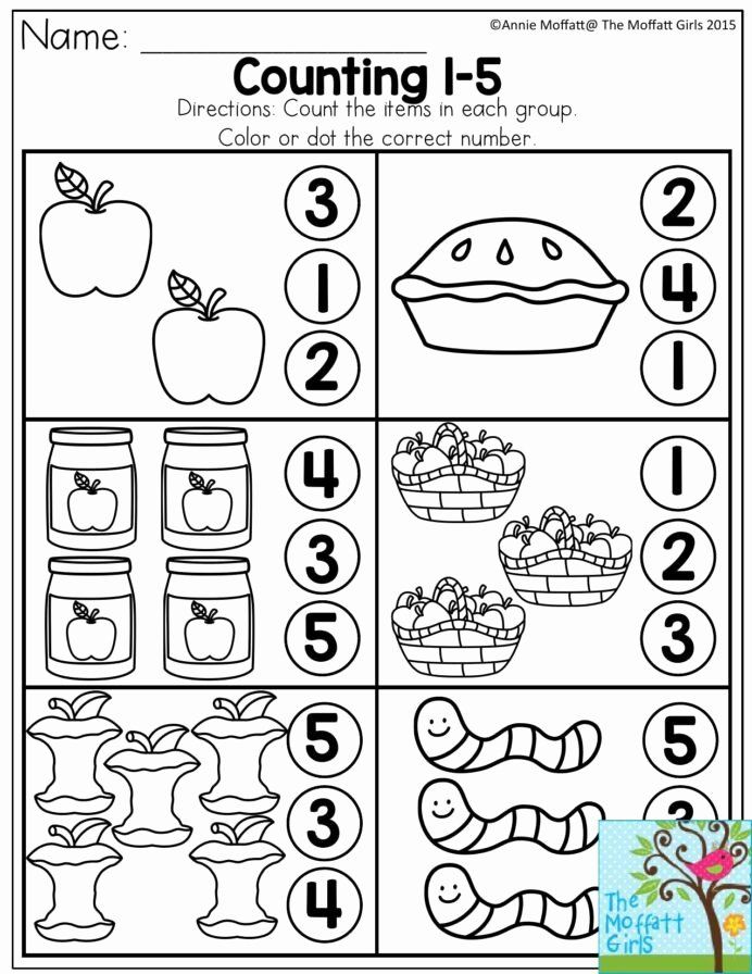Number 5 Worksheets for Preschoolers New Free Worksheets for Preschool and Kindergarten Count and