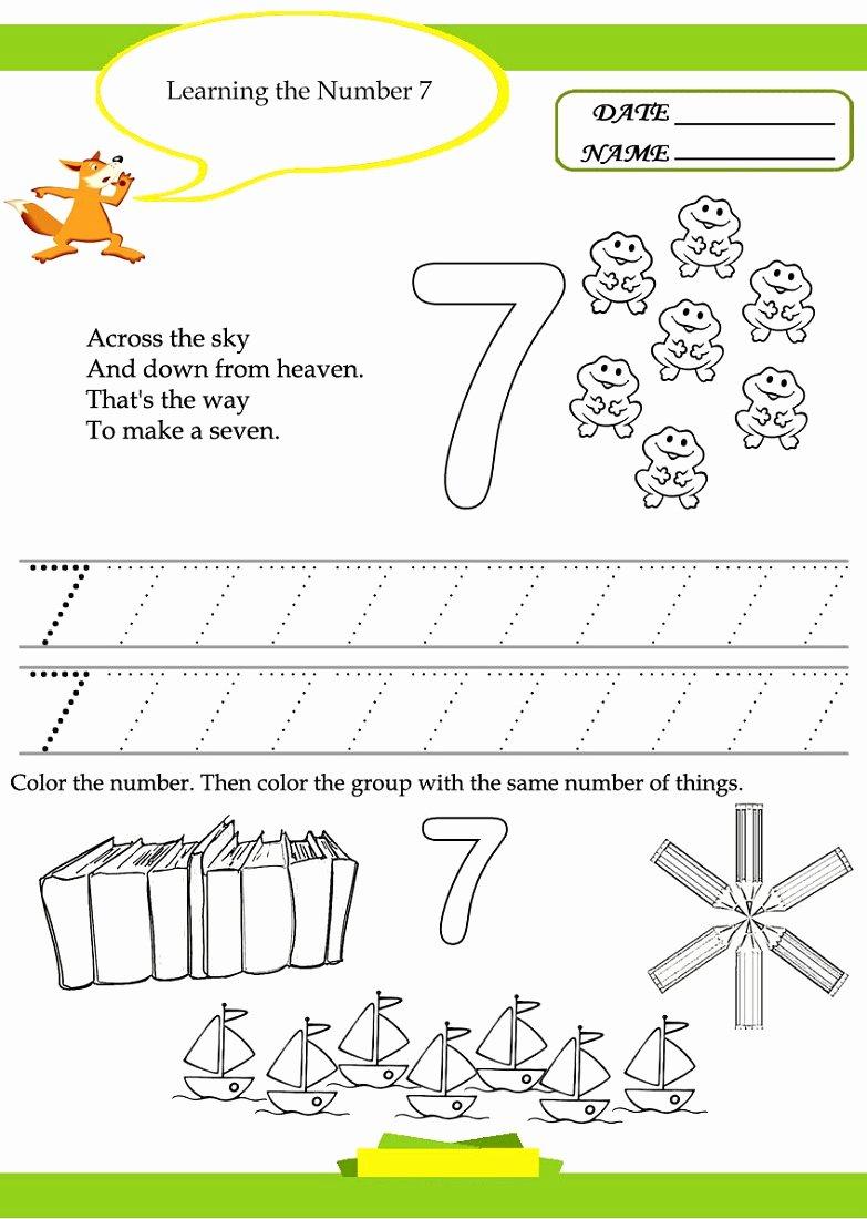 Number 7 Worksheets for Preschoolers Ideas Worksheet Free Number Worksheetsble Shelter for Kids to